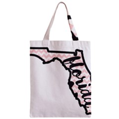Florida Map Pride Chevron Zipper Classic Tote Bags