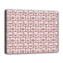 Light Pink And White Owl Pattern Canvas 14  x 11  View1