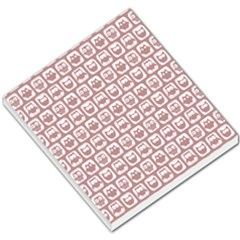 Light Pink And White Owl Pattern Small Memo Pads