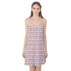 Light Pink And White Owl Pattern Camis Nightgown