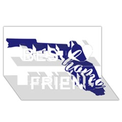 Florida Home  Best Friends 3D Greeting Card (8x4)