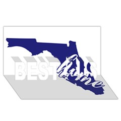 Florida Home  BEST SIS 3D Greeting Card (8x4)