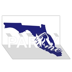 Florida Home  Party 3d Greeting Card (8x4)