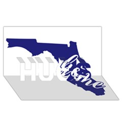 Florida Home  Hugs 3d Greeting Card (8x4)