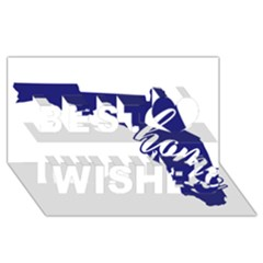 Florida Home  Best Wish 3d Greeting Card (8x4)