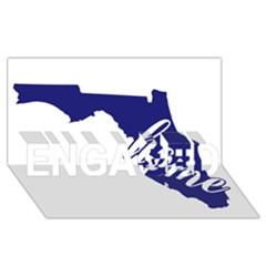 Florida Home  Engaged 3d Greeting Card (8x4)