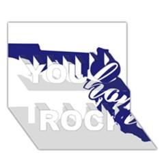 Florida Home  You Rock 3D Greeting Card (7x5)