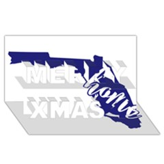 Florida Home  Merry Xmas 3D Greeting Card (8x4)