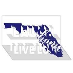 Florida Home  Laugh Live Love 3D Greeting Card (8x4)