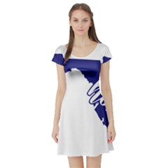 Florida Home  Short Sleeve Skater Dresses