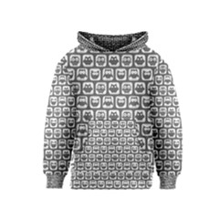 Gray And White Owl Pattern Kid s Pullover Hoodies