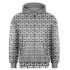 Gray And White Owl Pattern Men s Zipper Hoodies