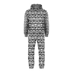 Gray And White Owl Pattern Hooded Jumpsuit (Kids)