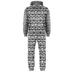 Gray And White Owl Pattern Hooded Jumpsuit (men)