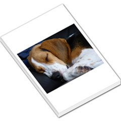 Beagle Sleeping Large Memo Pads