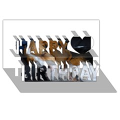 Beagle Sleeping Happy Birthday 3D Greeting Card (8x4)