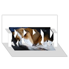 Beagle Sleeping MOM 3D Greeting Card (8x4)