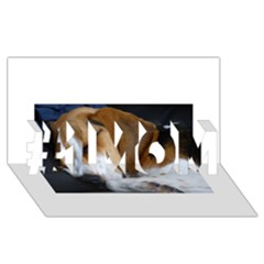 Beagle Sleeping #1 MOM 3D Greeting Cards (8x4)