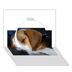 Beagle Sleeping Circle 3D Greeting Card (7x5)