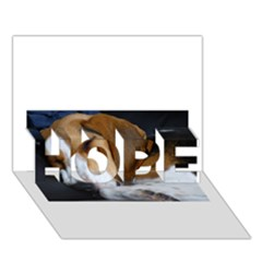 Beagle Sleeping HOPE 3D Greeting Card (7x5)