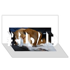 Beagle Sleeping #1 DAD 3D Greeting Card (8x4)
