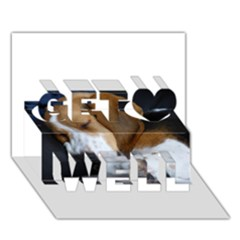 Beagle Sleeping Get Well 3D Greeting Card (7x5)
