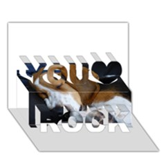 Beagle Sleeping You Rock 3D Greeting Card (7x5)