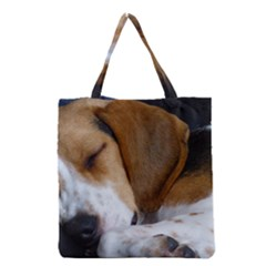 Beagle Sleeping Grocery Tote Bags