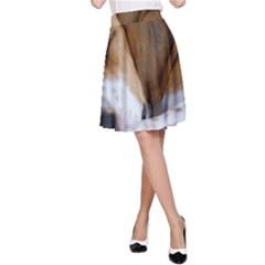 Beagle Sleeping A-Line Skirts