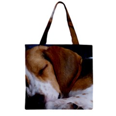 Beagle Sleeping Zipper Grocery Tote Bags