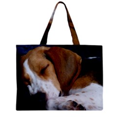 Beagle Sleeping Zipper Tiny Tote Bags