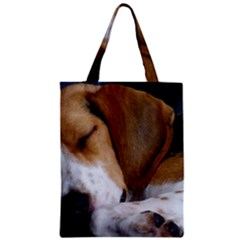Beagle Sleeping Zipper Classic Tote Bags