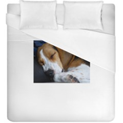 Beagle Sleeping Duvet Cover Single Side (KingSize)