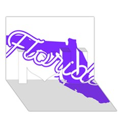 Florida Home State Pride I Love You 3d Greeting Card (7x5)
