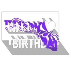 FLorida Home State Pride Happy Birthday 3D Greeting Card (8x4)