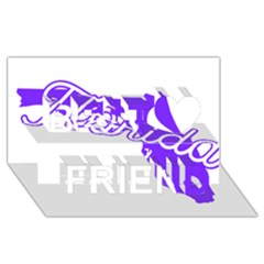 FLorida Home State Pride Best Friends 3D Greeting Card (8x4)