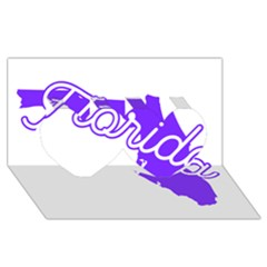 Florida Home State Pride Twin Hearts 3d Greeting Card (8x4)