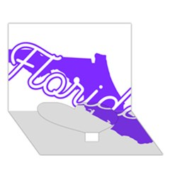 FLorida Home State Pride Heart Bottom 3D Greeting Card (7x5)