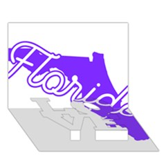 Florida Home State Pride Love Bottom 3d Greeting Card (7x5)