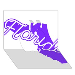 FLorida Home State Pride Apple 3D Greeting Card (7x5)