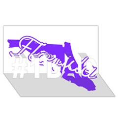 FLorida Home State Pride #1 DAD 3D Greeting Card (8x4)