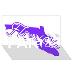 Florida Home State Pride Party 3d Greeting Card (8x4)