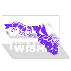 FLorida Home State Pride Best Wish 3D Greeting Card (8x4)