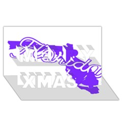 Florida Home State Pride Merry Xmas 3d Greeting Card (8x4)