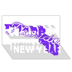 FLorida Home State Pride Happy New Year 3D Greeting Card (8x4)