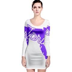 Florida Home State Pride Long Sleeve Bodycon Dresses
