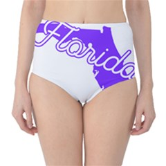 FLorida Home State Pride High-Waist Bikini Bottoms