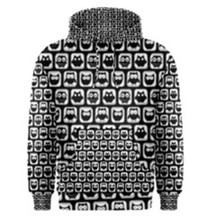 Black And White Owl Pattern Men s Pullover Hoodies