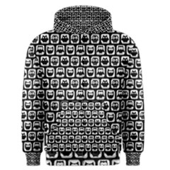 Black And White Owl Pattern Men s Zipper Hoodies