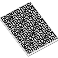 Black And White Owl Pattern Large Memo Pads